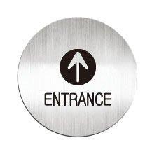 [職人の紙.二店工場] 美國迪多 Deflect-o/高質感鋁製品 系列/標示貼牌/ENTRANCE  圓形/含稅價 !
