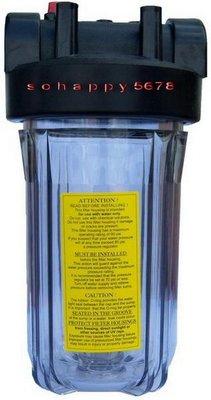 """【清淨淨水店】10""""大胖透明濾殼、透明瓶黑蓋、一箱6支量販價3600元一支=600元。"""