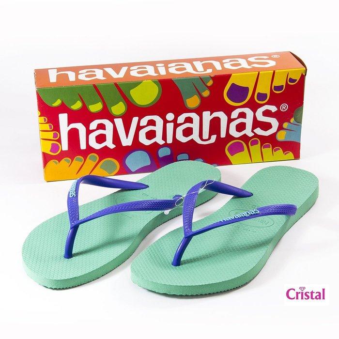 【HAVAIANAS】哈瓦仕百分%巴西原裝進口正品人字拖夾腳拖LOGO POP UP 撞色系列『夢工場Cristal』