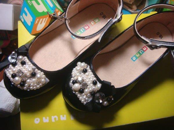 麗嬰房 my nuno 童鞋 亮皮黑色皮鞋 小禮服 畢業典禮 小花童 包鞋 娃娃鞋