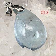全新品雙怡天然水晶:冰種海藍寶 (aquamarine) 吊墜