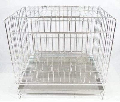 【優比寵物】2尺304#【固定式】不鏽鋼/不銹鋼(雙門上掀)(抽取式底網)級白鐵兔籠/狗籠/貓籠/寵物籠*台灣製造**