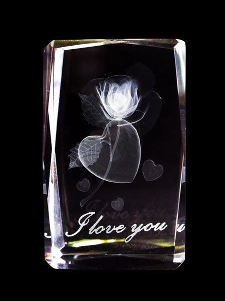 【芮洛蔓 La Romance】璀璨水晶 -愛心玫瑰 I LOVE YOU  / 母親節 / 情人節 / 玫瑰花