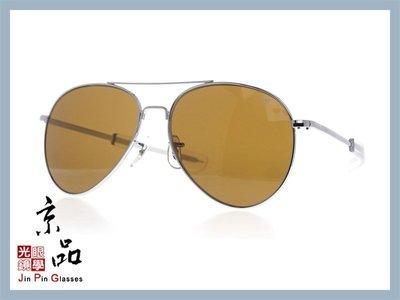 京品眼鏡 AO 美國 GN 將軍款 GN 58 S BA COS 58mm 銀框/茶色玻璃 太陽眼鏡 公司貨 JPG