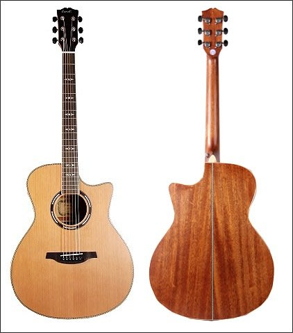 [免運費]Comet C-480E 紅杉木單板 電木民謠吉他 內建Fishman拾音器EQ 附贈琴袋、背帶等配件