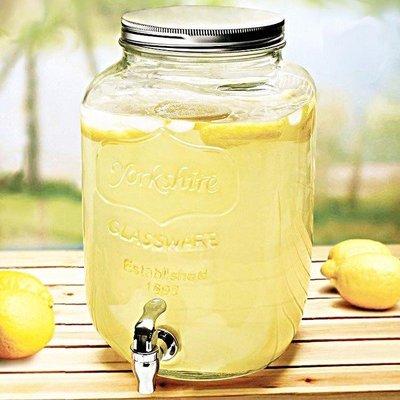 【客滿來】8L ABS水龍頭 果汁罐果汁瓶Mason梅森罐 玻璃瓶 飲料桶 冰桶飲料桶 果汁桶 啤酒桶 ADKI