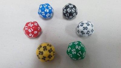 【双子星】25mm 30面骰子单颗 适用 Unstable 多明纳里亚 鹏洛客套牌 MTGDOM
