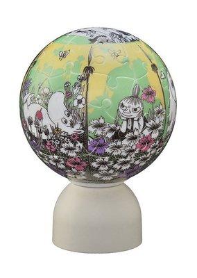 尼德斯Nydus~* 日本正版 嚕嚕米 姆明 Moomin 小美 阿美 3D立體拼圖 LED小夜燈 60片 (未含電池