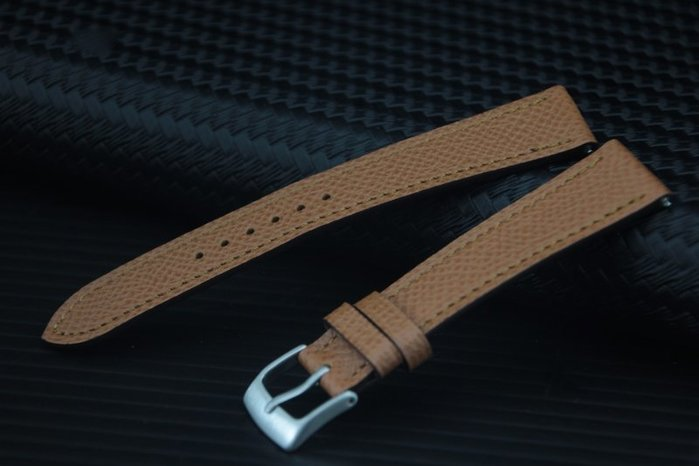 艾曼達精品~16mm 高質感進口皮料愛馬仕替代用表帶,搭配快拆彈簧棒~駝色