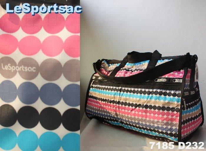【LeSportsac】100% 全新正品 7185 D232 / GO GO GO 大型 旅行袋*附收納袋*NEW