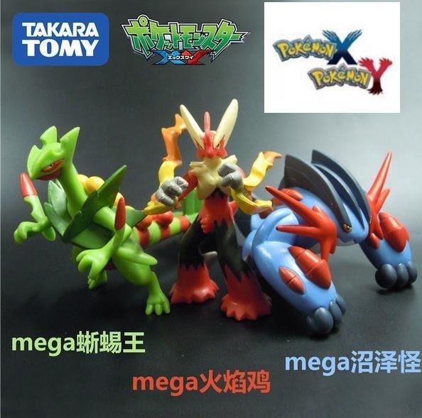 空運 絕版 Pokemon 寶可夢 8cm寵物小精靈/神奇寶貝TOMY大號可動MEGA火焰雞蜥蜴王巨沼怪 聖誕 交換易付