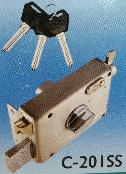 COE隱藏式白鐵四段鎖 C~201SS小轉鈕 裝置距離60mm 孔徑35mm 門厚30~5
