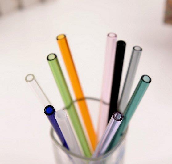 一起愛地球 多色玻璃吸管 環保吸管 彩色吸管 梅森杯吸管 任購3支吸管即贈清潔刷