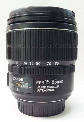 @佳鑫相機@(中古託售品)CANON EF-S 15-85mm F3.5-5.6 IS USM  廣角變焦鏡 彩虹公司貨