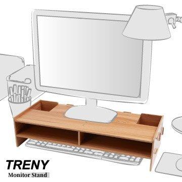 【TRENY直營】電腦螢幕增高架 (加厚基本-櫻桃木) 電腦螢幕收納架 螢幕架 鍵盤架 鍵盤收納 抽屜 D5088-C