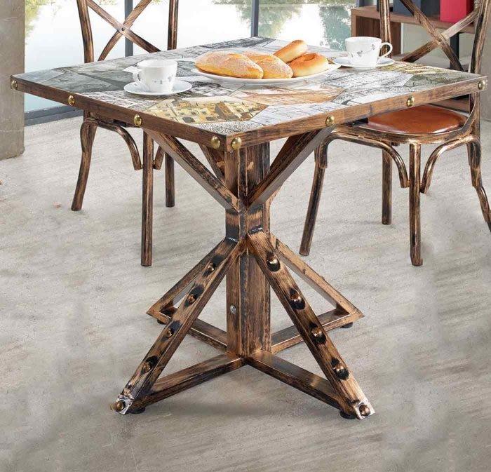 【DH】商品編號G993-2商品名稱倫拜2.7尺休閒桌(圖一)不含椅。仿古/歐風時尚優質品味。主要地區免運費