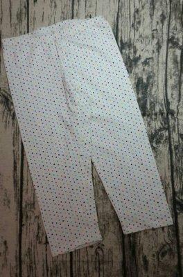 ♪瑋瑋城堡♪【可面交,近捷運】  白底圓點棉質七分褲 L號10-12歲