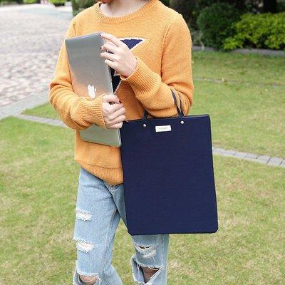 时尚商务拉链文件袋手提文件包资料袋 收納袋 收納手提袋 手提包 電腦包 帆布牛津布学生多层韩国a4