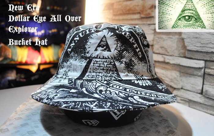 online store 79265 5f636 ... usa new era branded us one dollar all over bucket hat yahoo c13de 72164