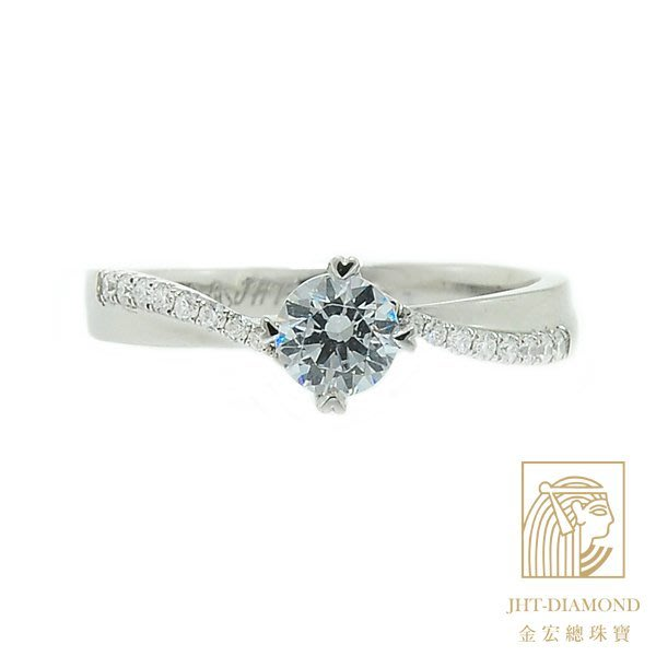 【JHT 金宏總珠寶/GIA專賣】婚戒/鑽戒 女鑽石戒台 (不含搭配主鑽)JRC055