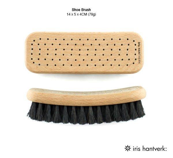 GOODFORIT / 百年瑞典頂級手工刷具廠牌Iris Hantverk黑鬃馬毛鞋刷(14x4x5CM)