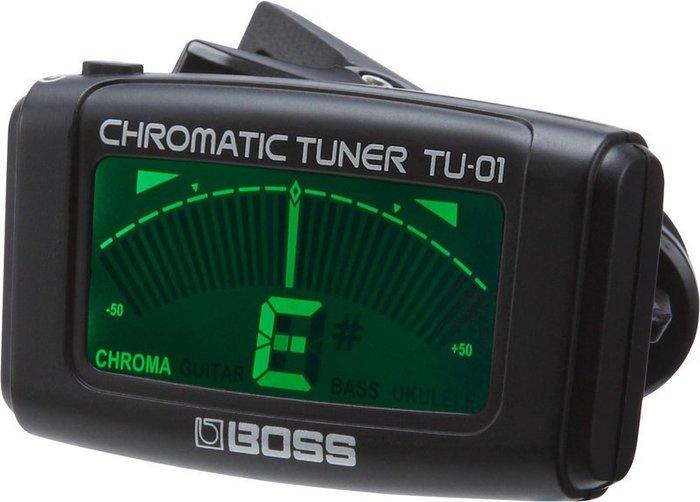 ~放輕鬆樂器~ 免 BOSS TU~O1 Clip~On Chromatic Tuner