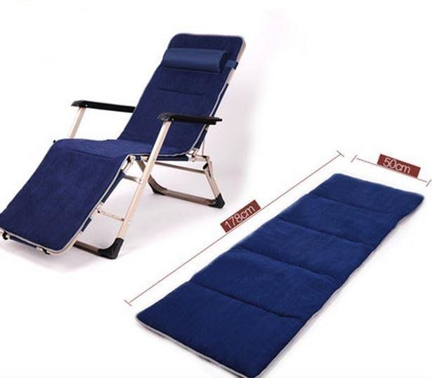 《婷婷小63》加粗加固單方管含棉墊 折疊椅 折疊床 辦公室午休椅 午睡床 沙灘椅 豪華休閒