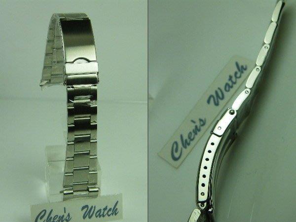 錶帶屋 代用勞力士 Rolex 水鬼 16610 三板拉銀絲面實心鋼帶 17mm 18mm 20mm 現貨商品