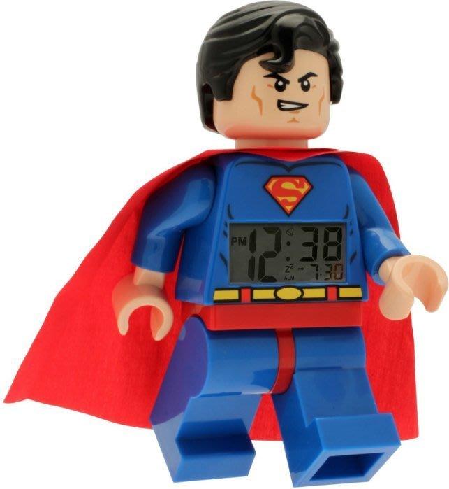 現貨【LEGO 樂高 】100% 全新正品/ 超人鬧鐘 DC英雄聯盟 超人 數字時鐘 Superman 人偶鬧鐘 公仔