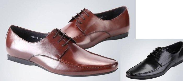 爵式新品男士商務休閒皮鞋真皮男鞋系帶尖頭皮鞋低幫鞋單鞋潮百搭