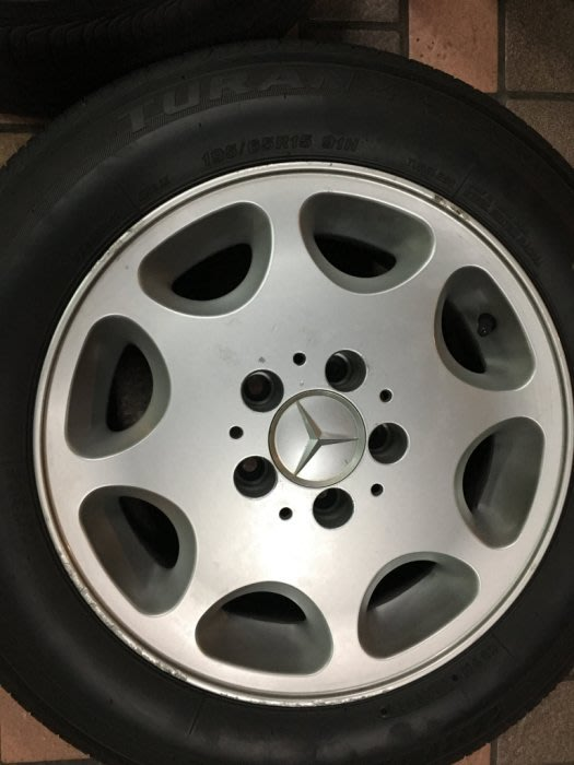 [Used] Benz W124 賓士 15吋鋁圈含胎  w201 w202 w203 w124 w210 r170
