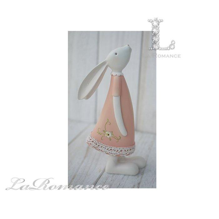 【荷蘭 Clayre & Eef 特惠系列】 粉色兔子擺飾 (小) / 動物 / 鄉村風 / 童趣
