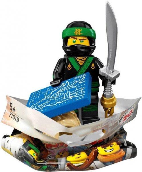 現貨【LEGO 樂高】積木/ Minifigures人偶包系列: 忍者電影 71019 | #3 綠忍者勞埃德Lloyd