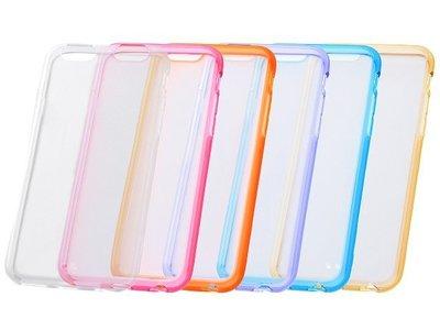 尼德斯Nydus~* 日本正版 孔位精準 軟殼 手機殼 背面透明 邊框式 共6色 4.7吋 iPhone6