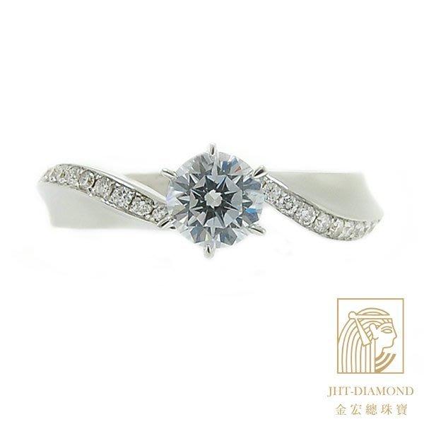 【JHT 金宏總珠寶/GIA專賣】婚戒/鑽戒 女鑽石戒台 (不含搭配主鑽)JRM071