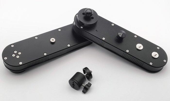 呈現攝影-四倍摺疊滑軌 18到70cm 增距/微型滑軌 摺疊 攝影軌道 水平 線性 錄影  跟焦 線性