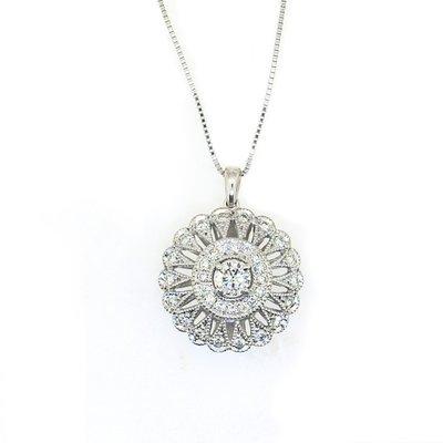 【JHT 金宏總珠寶/GIA鑽石專賣】0.315ct天然鑽石造型項鍊/材質:18K(JB41-A45)