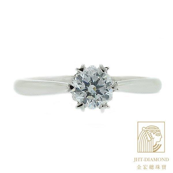 【JHT 金宏總珠寶/GIA專賣】婚戒/鑽戒 女鑽石戒台 (不含搭配主鑽)JRJ022