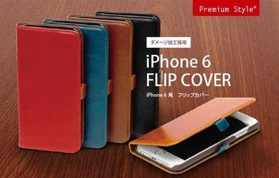 尼德斯Nydus~* 日本正版 PGA 皮革質感 皮套 手機殼 保護殼 翻頁皮套 iPhone6 4.7吋 咖啡色