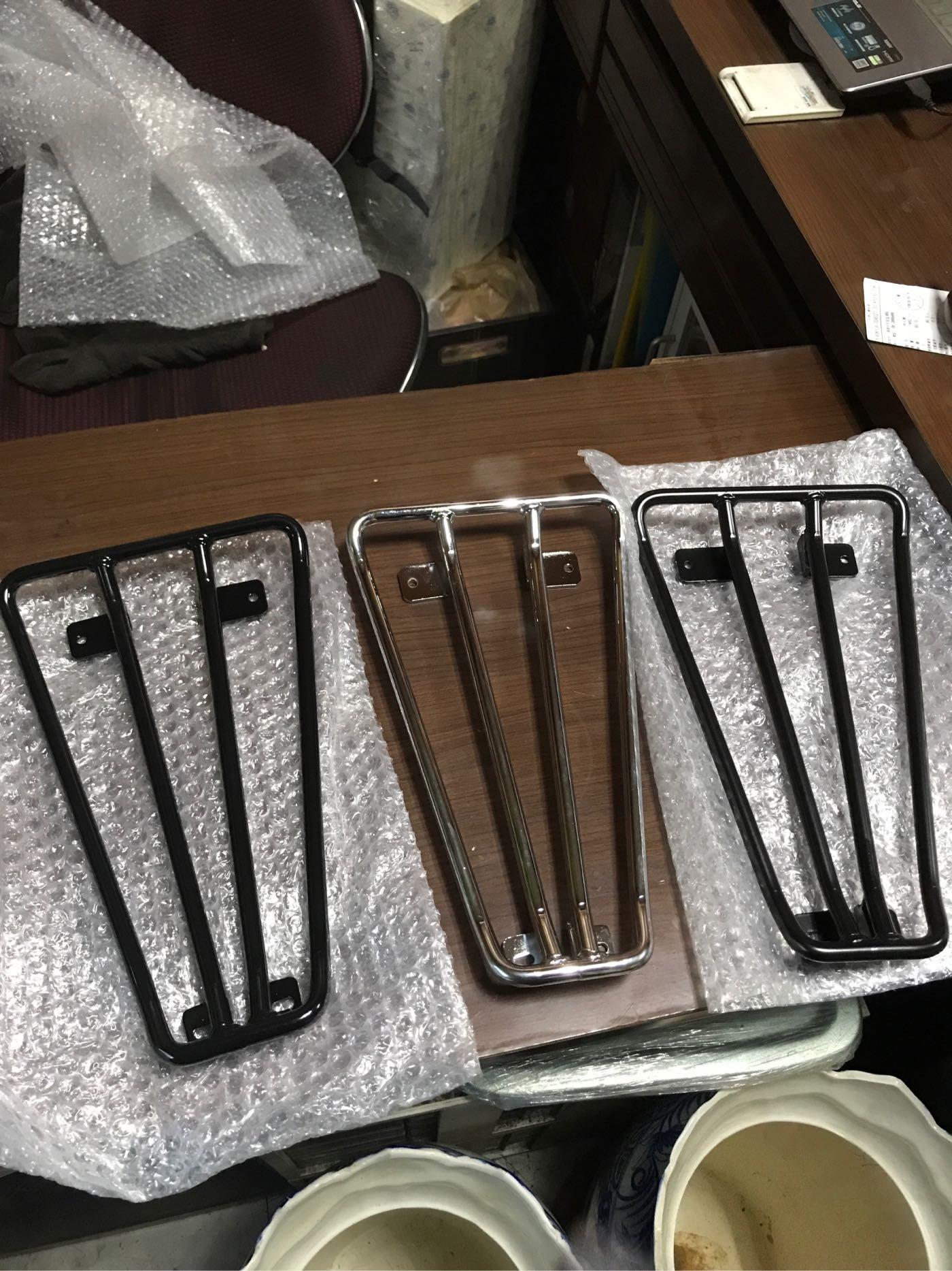 Vespa px150e 實心腳踏置物架
