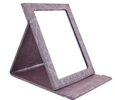 【 愛來客 】超大紫色MAKE-UP FOR YOU 折疊化妝鏡巧妝鏡進口PU皮質 鏡面防霧化玻璃