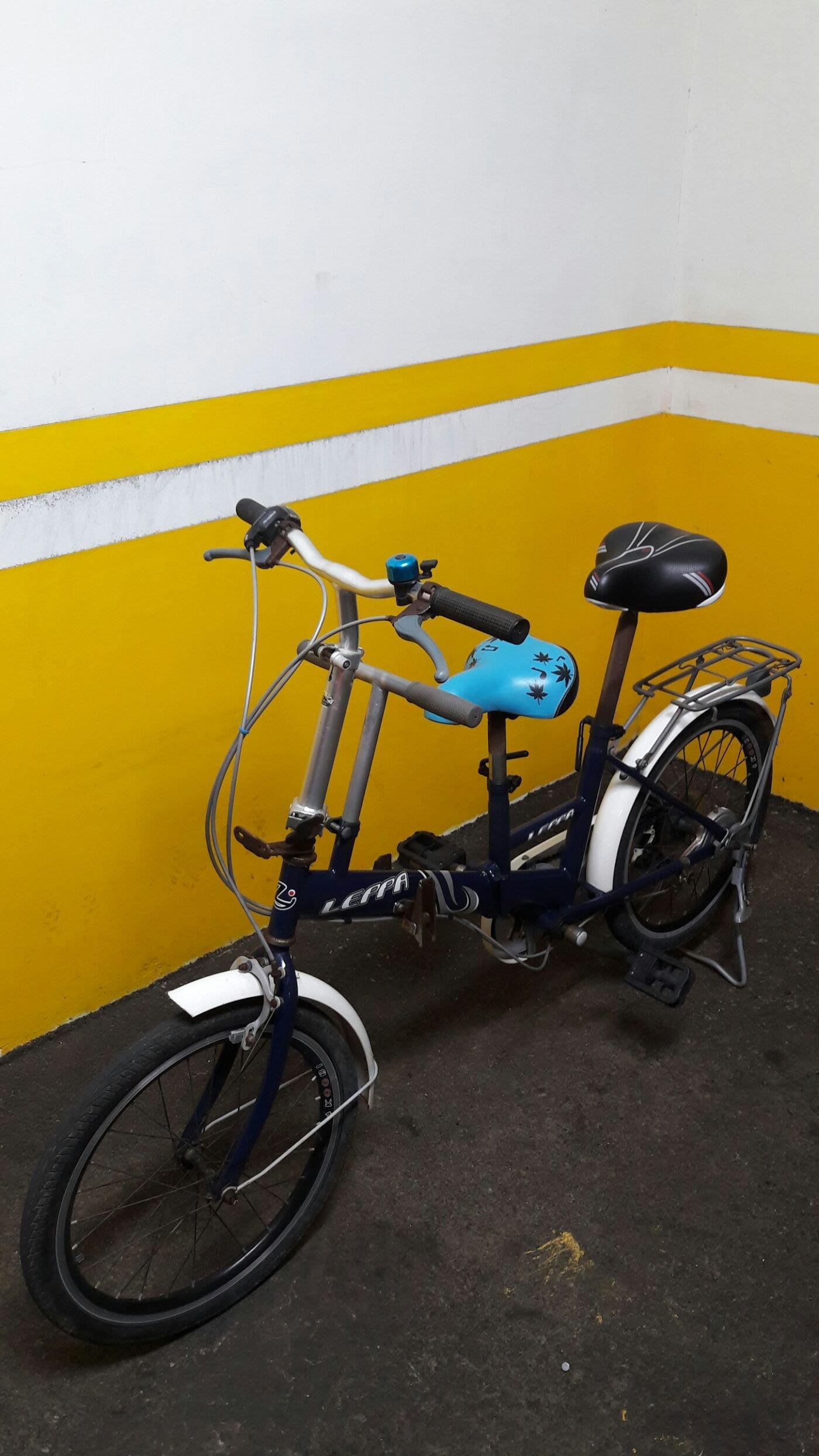 leppa深藍色20吋6段shimano六段變速摺疊親子腳踏車