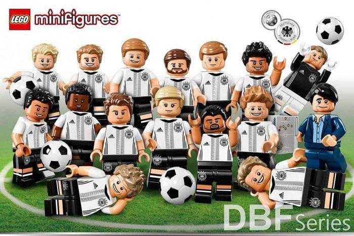 限定版【LEGO 樂高】益智玩具 積木/ Minifigures人偶系列: DFB 德國足球隊 全套共16個 71014