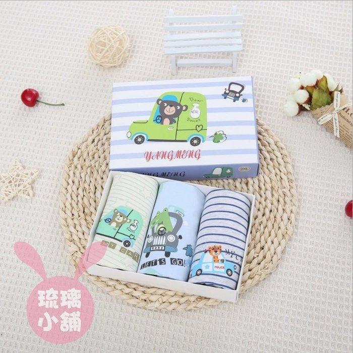 《琉璃的雜貨小舖》韓國 動物小汽車 男童四角內褲三件組