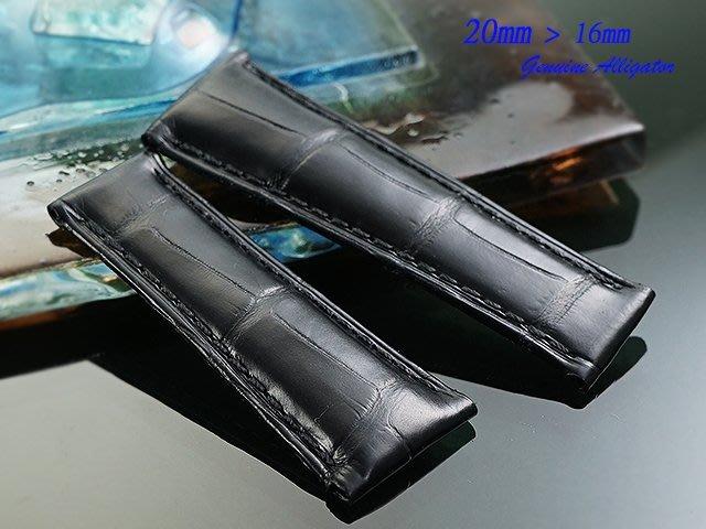 【時間探索】 全新 Rolex daytona 特仕款純正鱷魚皮錶帶 ( 20mm )