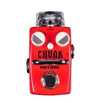 ☆ 唐尼樂器︵☆公司貨一年保固 Hotone CHUNK Distortion 電吉他/電貝斯 Bass 單顆破音效果器