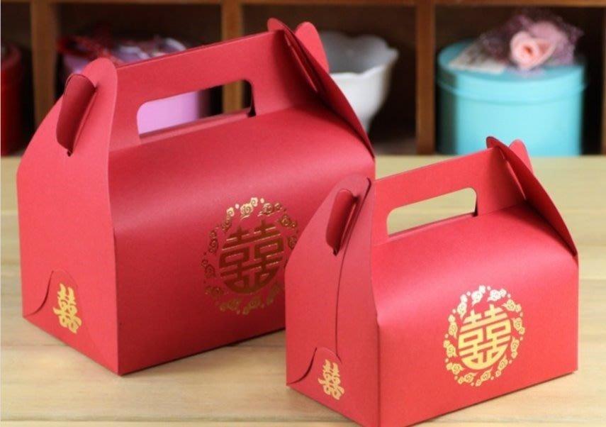 【氣球批發廣場】 小號中式雙囍字手拎盒個喜糖盒 婚禮  喜糖盒 糖盒  巧克力 糖果盒 婚禮小物