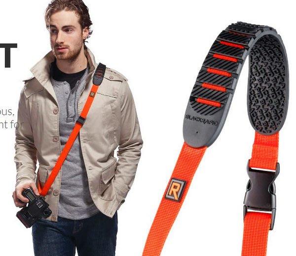 呈現攝影-BlackRapid Cross Shot 斜肩版 橘色 快槍俠極速背帶 單肩減壓背帶 相機背帶  快槍手