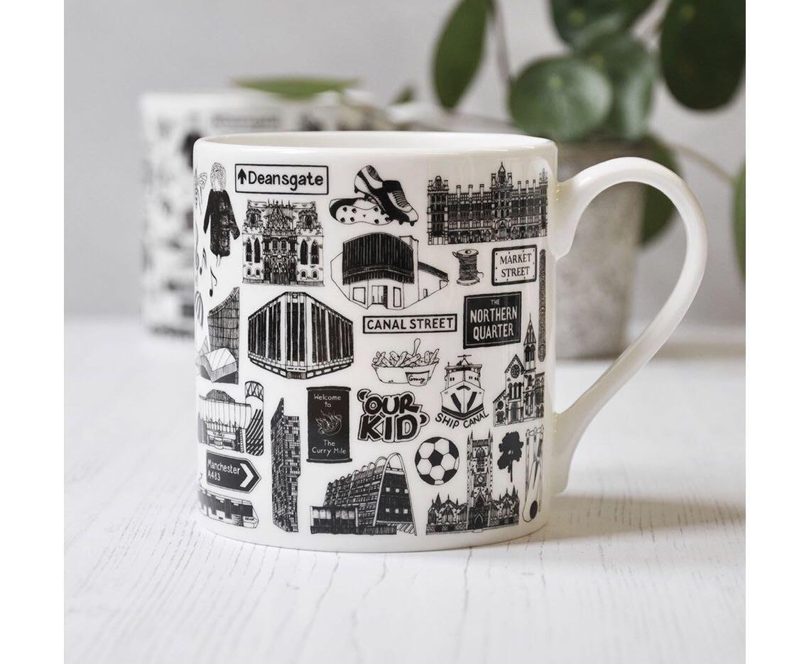 英國MARTHA MITCHELL DESIGN Manchester fine bone china mug馬克杯(預購)