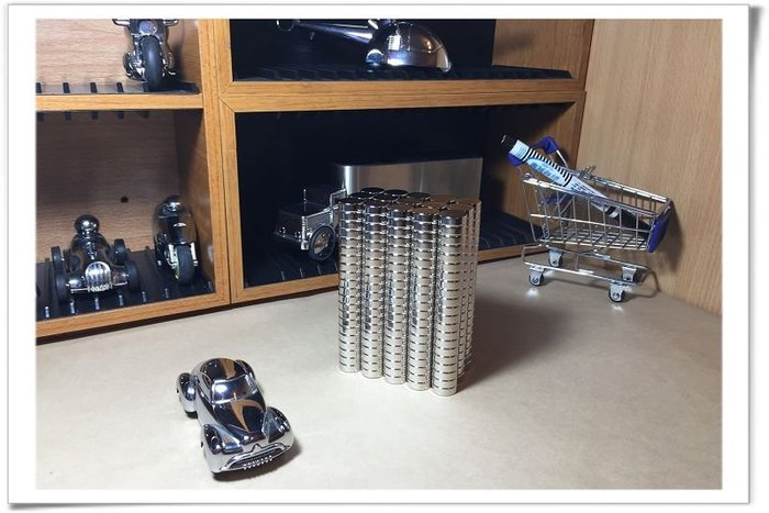 釹鐵硼磁鐵15mmx3mm--製作磁吸式小物就靠它哦!